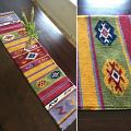"Woven Table Runner ""Estrella Blanca\"""