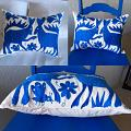Otomi Pillow Azure Blue