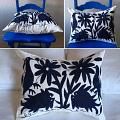 Otomi Pillow Navy Blue
