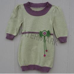 "Girl Mexican Dress ""Pistache\"""