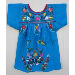 "Girl Mexican Dress ""Turqueza\"""