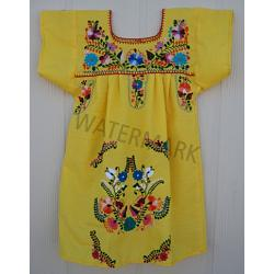 "Girl Mexican Dress ""Amarillo\"""