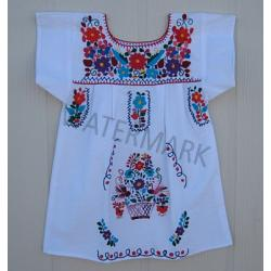"Girl Mexican Dress ""Blanco\"""