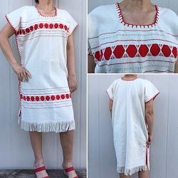 "Handwoven Dress ""Fer Rojo"""