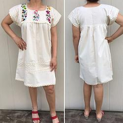"Hand Embroidered dress ""Primavera C"""
