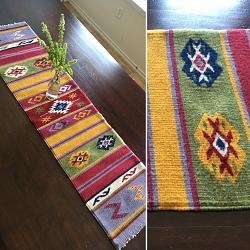 "Woven Table Runner ""Estrella Blanca"""