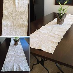 Hand embroidered Mexican Table Runner