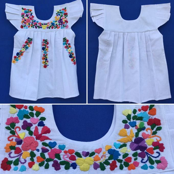 Girl Mexican Dresses Handmade Masterpieces Crafted By Mexican