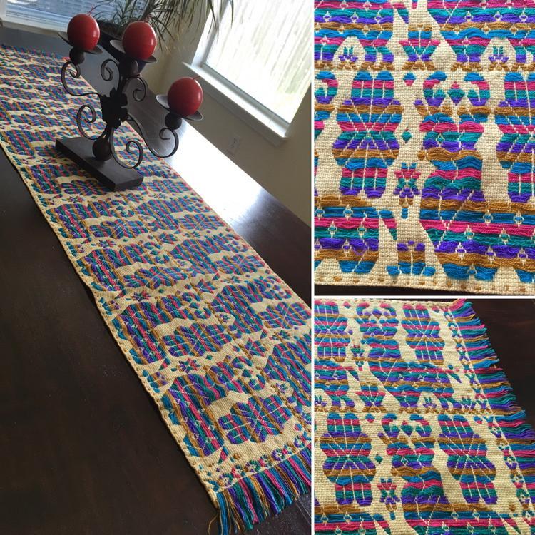 Charmant Hand Woven Table Runner U0026quot;Venados De Estambreu0026quot;