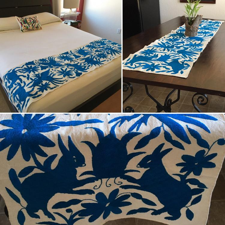 Bed runners when it comes to time to do the laundry a bed Mexican embroidered bedding